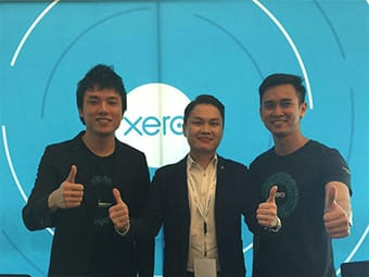 Chartered accountant jason pang posing with accounting solution provider xero partners